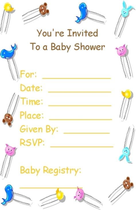 free downloadable baby shower invitation templates free printable babyshower invitation