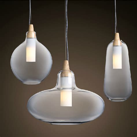 Aliexpress Com Buy Modern Glass Pendant Light Natural Modern Hanging Pendant Lights