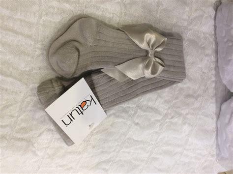 katun cotton rich bow tights gray briannagh children s boutique