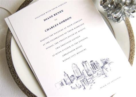 Wedding Invitations Kansas City kansas city skyline wedding invitations