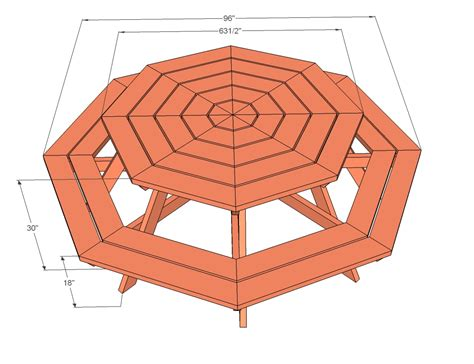 picnic bench dimensions wood coat pegs octagon picnic table how to build