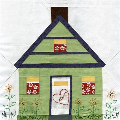 pattern of house house paper piecing quilt pattern quilts different