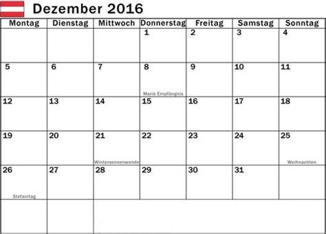 Kalender 2016 Dezember Kalender 2016 Pdf Excel Doc Ausdrucken