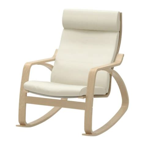 po 196 ng rocking chair glose eggshell birch veneer ikea