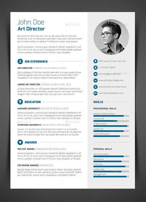 Resume Cv 3 resume cv cover letter by bullero graphicriver