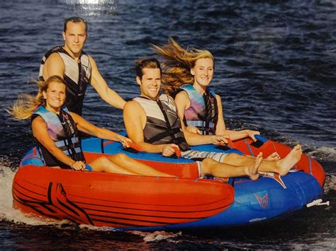 4 person boat tube new ho sports delta 4 towable water tube boat lake ski