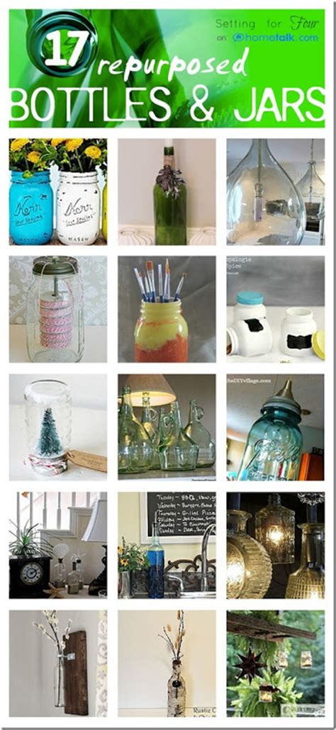 Repurposed Home Decorating Ideas by Repurposed Bottle And Jars Beautiful Home Decor Ideas