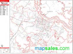 Savannah Zip Code Map by Savannah Georgia Wall Map Red Line Style By Marketmaps