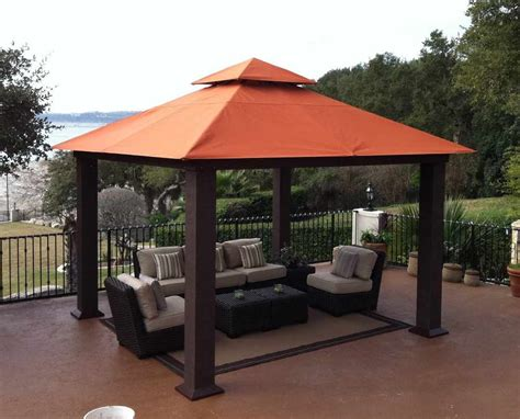 fixed gazebo wood gazebos and canopies outdoor canopies 187 fixed