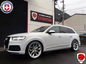 badass white audi q7 on hre wheels