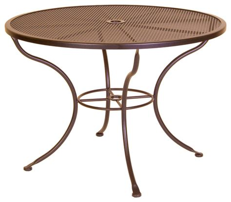 outdoor dining table with umbrella micro mesh 42 quot dining table with 2 quot umbrella