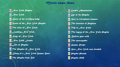 movie themes names movie name ideas chloe lea s media blog