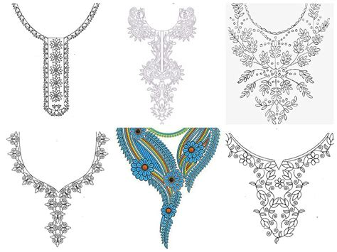neck design in embroidery hand embroidery designs for kurtis neck hand embroidery