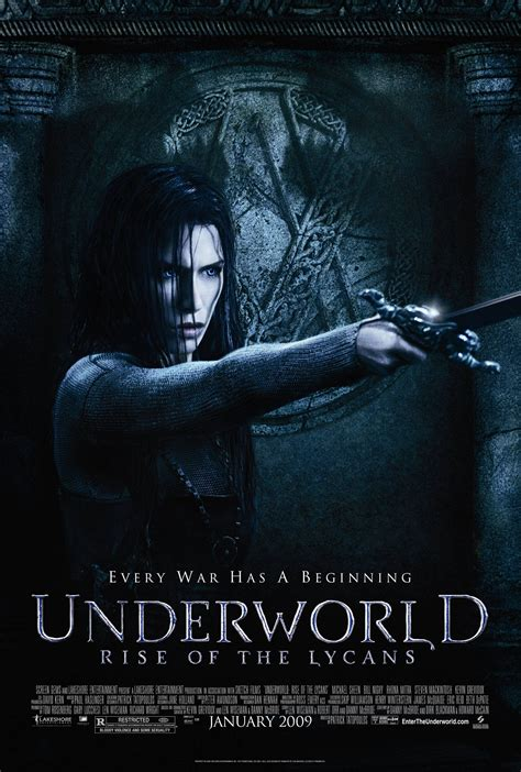Film Underworld Rise Of The Lycans 2009 | underworld rise of the lycans 2009 poster