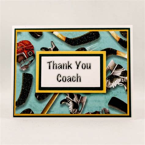 hockey thank you card template thank you card for hockey coach coach thank you card