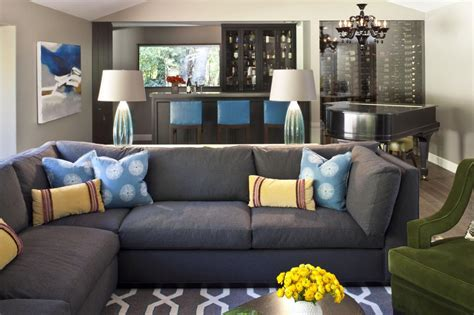 living room with gray sofa photo page hgtv