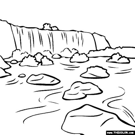 Iguazu Falls Argentina Brazil Coloring Page Niagara Falls Coloring Page