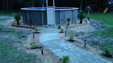 before mulch above ground pool 18x52 backyard ventures