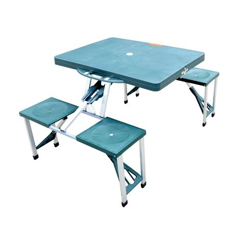 Portable Folding Picnic Table Picnic Table Portable Folding Cing Outdoor Garden Yard Suitcase W 4 Seats