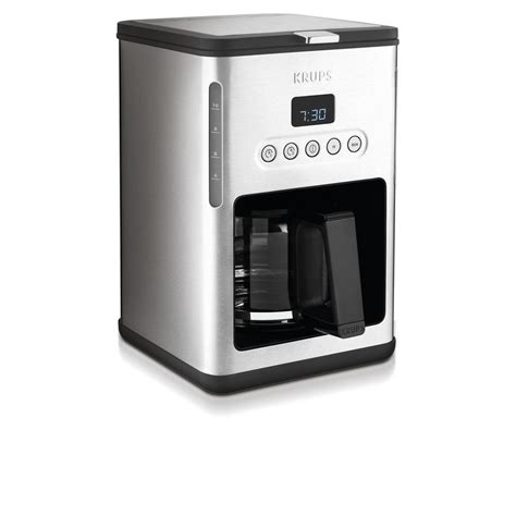 krups 10 cup programmable coffee maker km442d50 the home