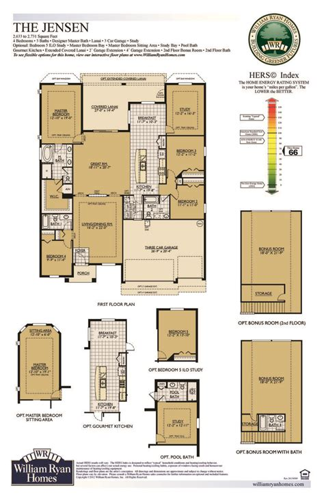william ryan homes floor plans william ryan homes ta jensen floor plan 2633 sq ft