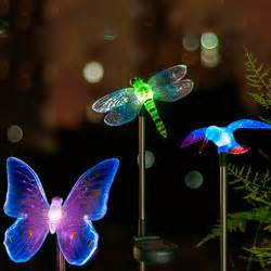 butterfly outdoor lights aliexpress buy goeswell led solar garden light