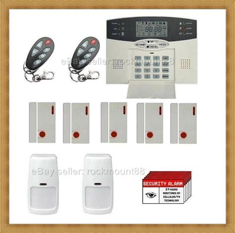 top advanced wireless lcd home security system