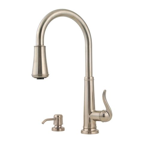 pfister hanover single handle pull down sprayer kitchen faucet in stainless steel gt529tms the pfister nickel pull down faucet nickel pfister pull down