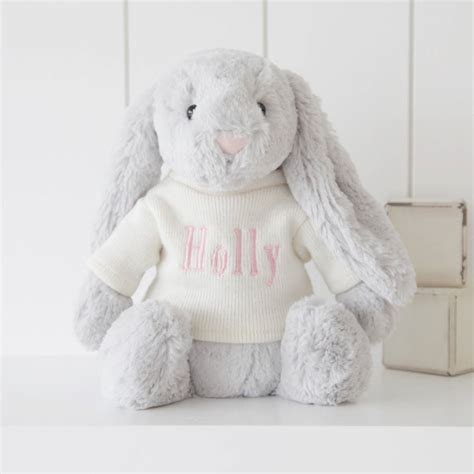 personalised bashful bunny soft toy by my 1st years