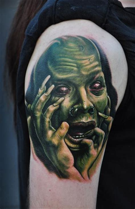 crazy face tattoos by mike devries tattoos
