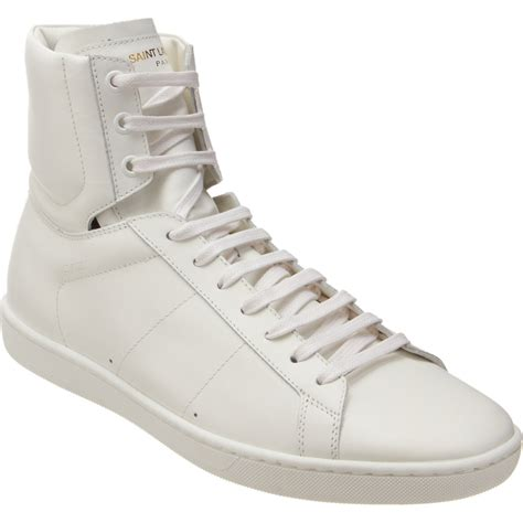 laurent high top sneakers laurent classic high top sneaker in white for