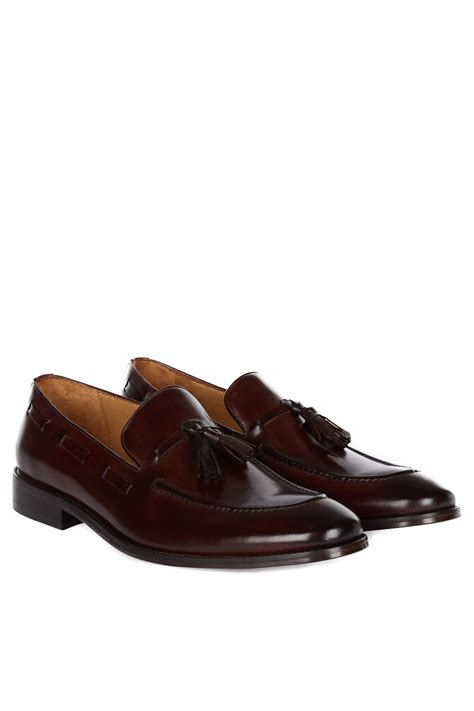 formal loafers for hardy amies mens formal shoes brown tassel leather loafers