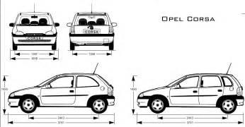 Opel Corsa Specifications Corsa B Zeichnung Corsaforum De