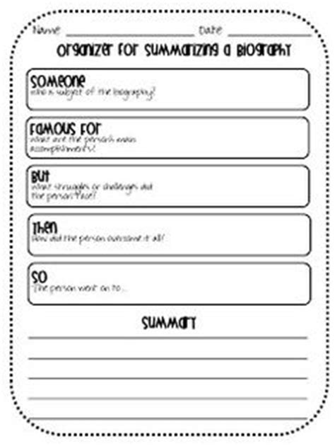 biography summary graphic organizer 1000 images about biography project on pinterest