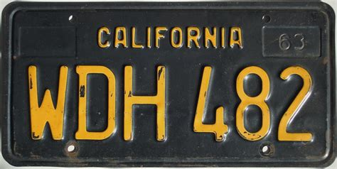California License Plate Lookup Black California License Plate