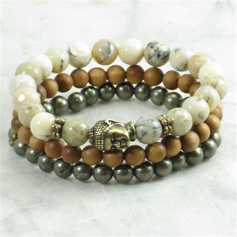 buddha bead golden buddha mala 21 mala stack bracelet