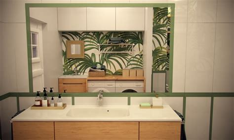 hawaiian bathroom decor 2 bedroom modern apartment design under 100 square meters