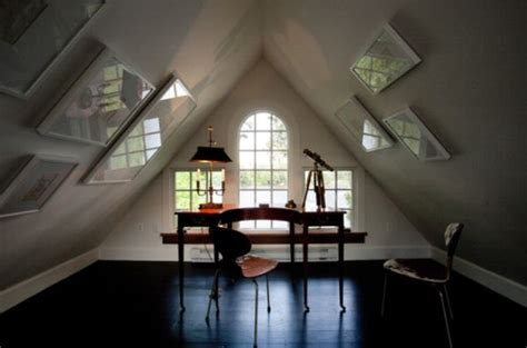 cozy attic home office design ideas