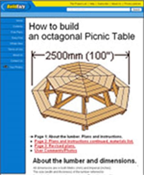 octagon picnic table plans pdf build wooden children hexagon picnic table plans plans