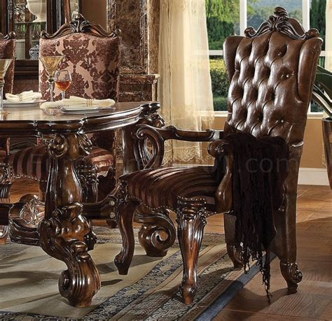 Cherry Oak Dining Table Versailles Dining Table Cherry Oak By Acme 61115