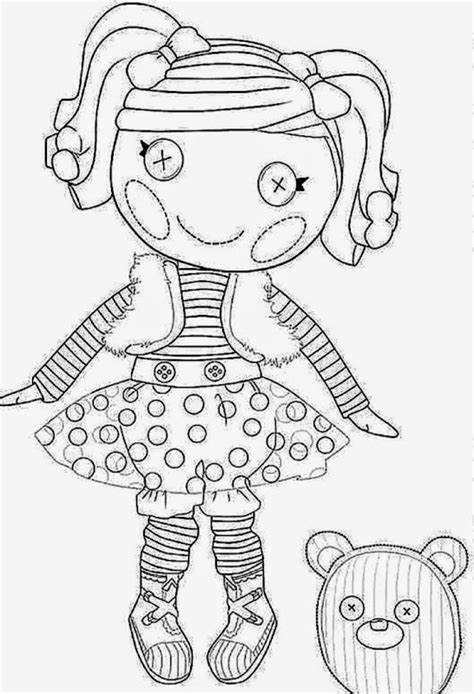 free printable coloring pages lalaloopsy free lalaloopsy dot coloring pages