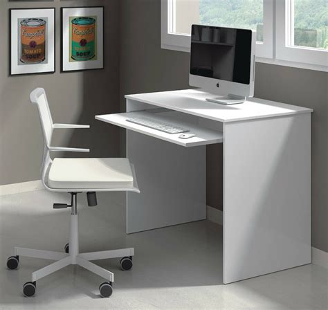 White Computer Desk by Milan Compact Computer Desk White Gloss Ebay