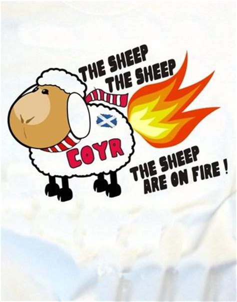 The Sheep Are On Fire! T Shirt ? Scotland's Bothy