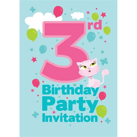 invitation wording for 3rd birthday 3rd birthday supplies delights