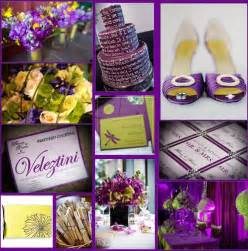 purple wedding colors fabulous weddings events a daring color scheme yellow