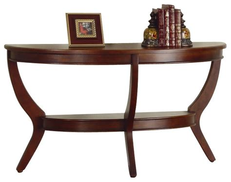 accent sofa table homelegance avalon sofa table in cherry transitional