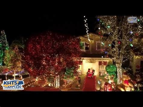 holiday lights on display in santa clarita video