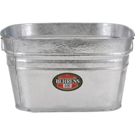 behrens 15 5 gal dipped square tub 62x the home depot