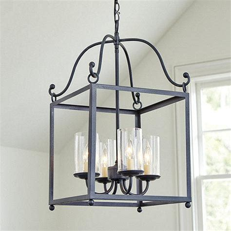Lantern Style Pendant Lighting Black Lincoln 4 Light Pendant