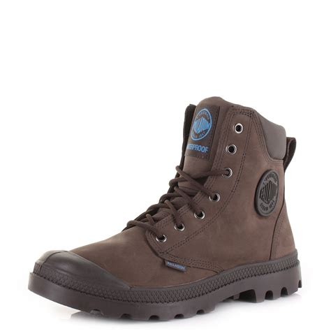 mens palladium pa cuff choco blue brown